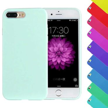 iPhone 7 Plus Candy Crush Silikon Gummihülle Cover Mintgrün