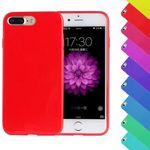 iPhone 7 Plus Candy Crush Silikon Gummihülle Cover Rot