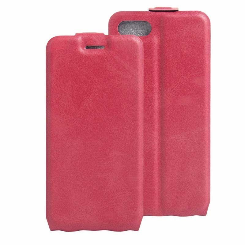 iPhone 7 Plus Smart Flip Cover Lederhülle Pink