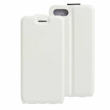 iPhone 7 Plus Smart Flip Cover Case Lederhülle Vertikale Weiss