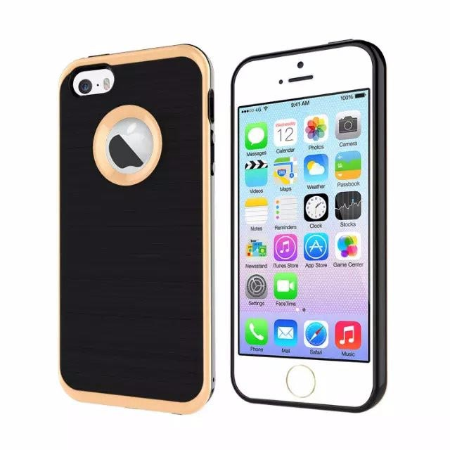 iPhone 7 Plus Silikon Hülle Case extra Kantenschutz Gold