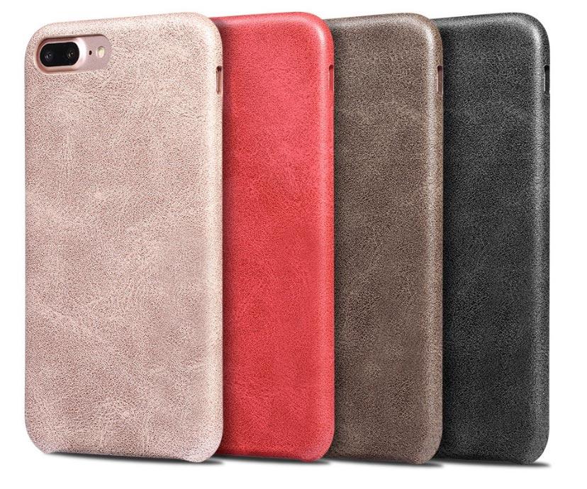 Ledercase Apple iPhone 8 Plus Schwarz