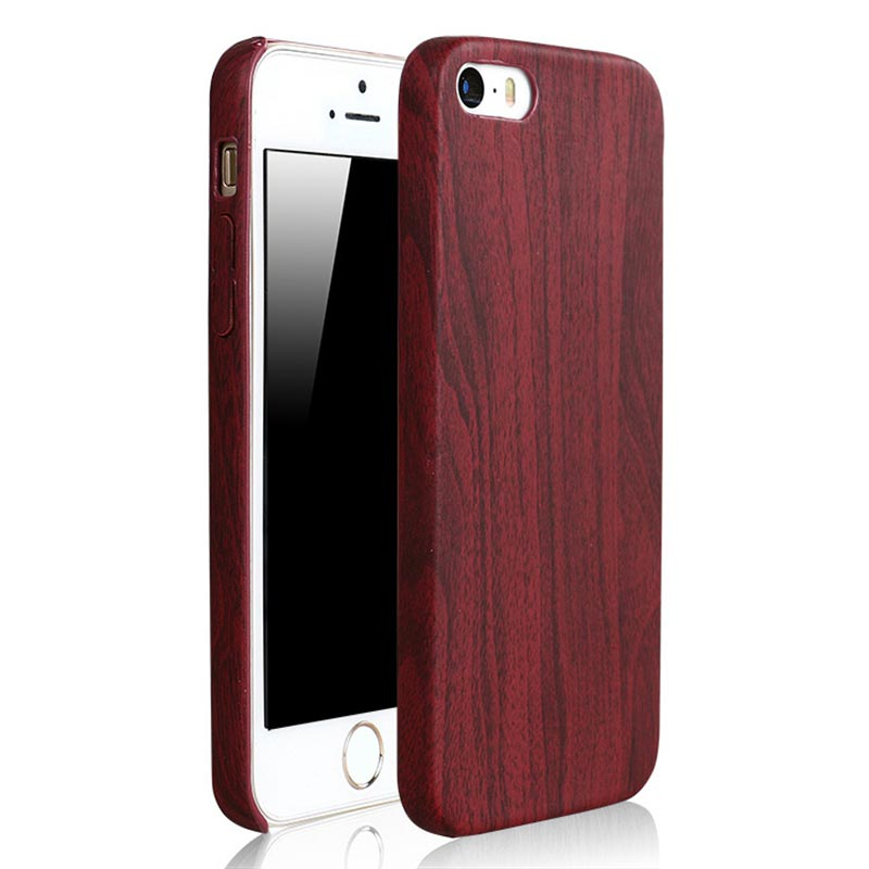 apple iphone 7 holz h lle wood case look mahagonibraun