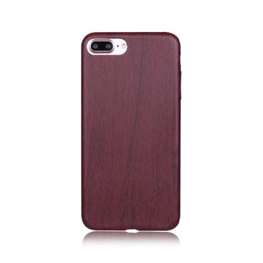 iPhone 7 Plus weiche Schutz Hüllen Case Wood Look Beige Mahagoni braun