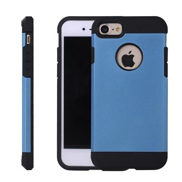 Apple iPhone 7 robustes Cover ShockProof Hartcover hellblau