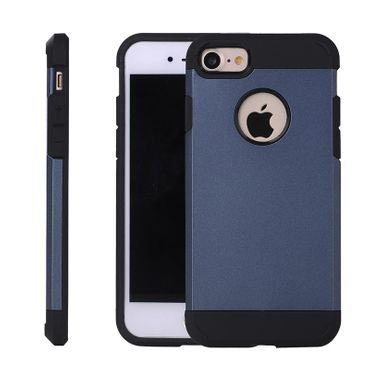 Apple iPhone 7 edle Silikon Schutzhülle Case Anthrazit blaugrau