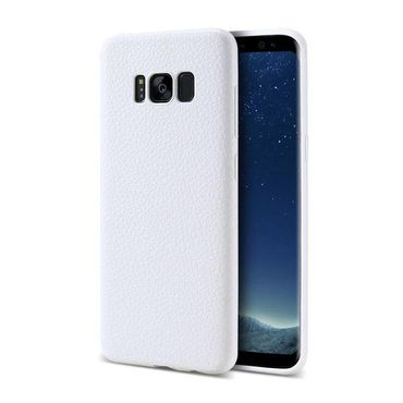 Samsung Galaxy S8 Plus flexibles weiches Ledercase Cover Weiss