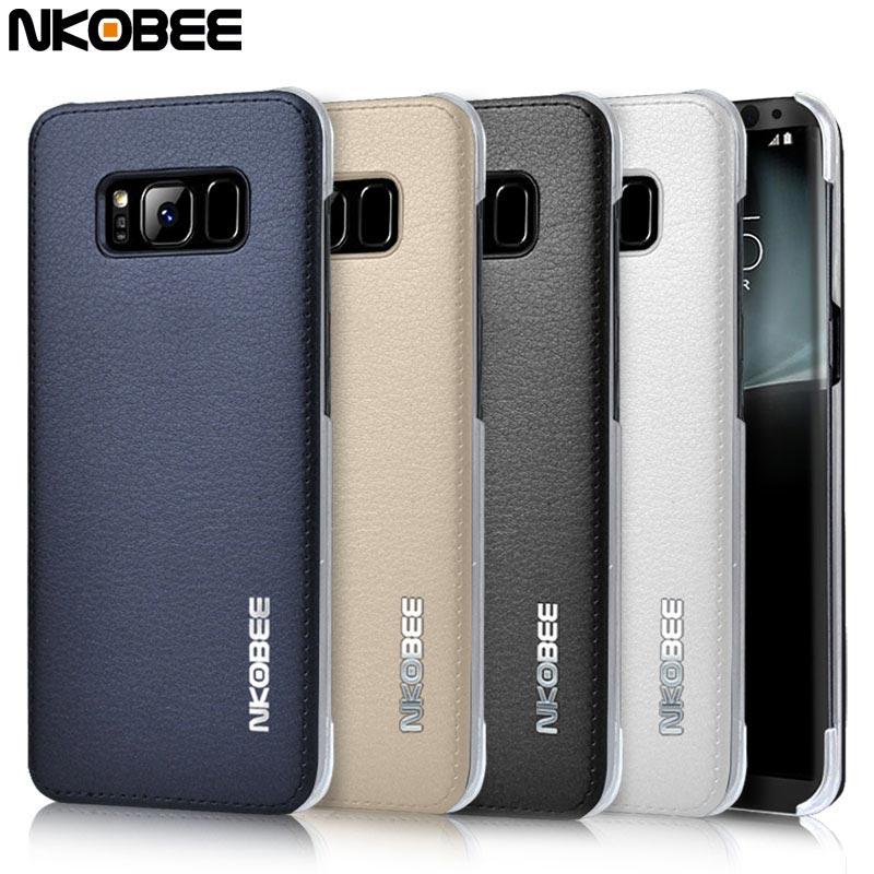 Leder Schutzhülle Samsung Galaxy S8 Plus Edge blau schwarz rosa silber