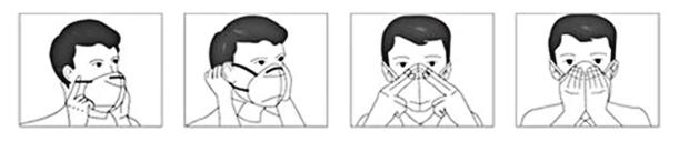 Anleitung Gesichtsschutzmasken anziehen