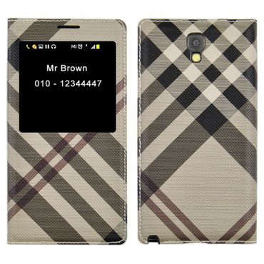 Samsung Galaxy Note 3 Flip Smart-View Cover beige Coffee