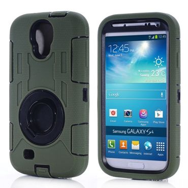 Outdoor Extrem HYBRID Shock Proof hart Case für Samsung Galaxy S4 i9500 i9505 - Grün