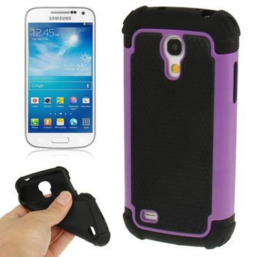 HYBRID Shock Proof Outdoor Extrem hart Hülle Case für Samsung Galaxy S4 mini i9190 - Lila