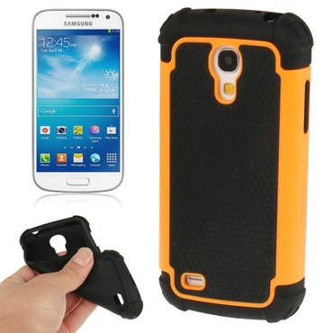 HYBRID Shock Proof Outdoor Extrem hart Hülle Case für Samsung Galaxy S4 mini i9190 - Orange