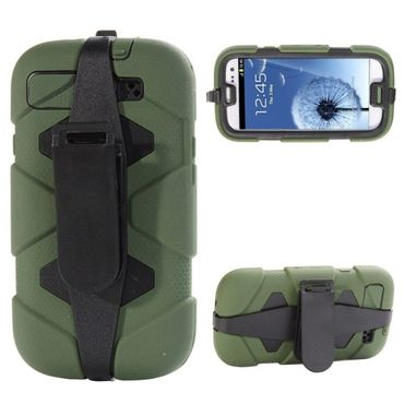 Outdoor Extrem HYBRID Shock Proof hart Case für Samsung Galaxy S3 i9300 - Grün