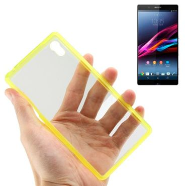 Sony Xperia Z2 TPU Silicon Cover Transparent Gelb