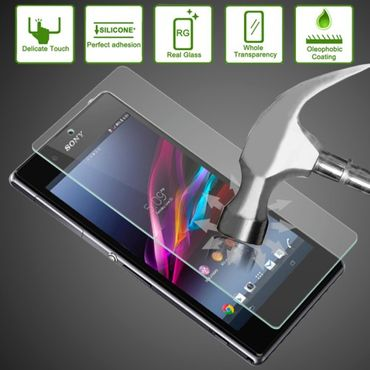 Original Technologie Premium Tempered Glas EXTREM Schutzglas 0.33mm für Sony Xperia Z1 L39H - Transparent