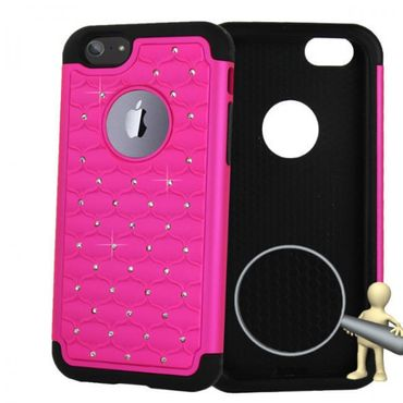 "iPhone 6 / 4,7"" Hybrid Bling Bling Handyhülle Pink"