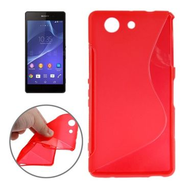 Sony Xperia Z3 Compact Mini Handyhülle S-Design Rot
