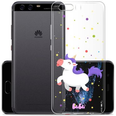 Hülle Huawei P10 Plus Unicorn Magic Einhorn Happy - bubu