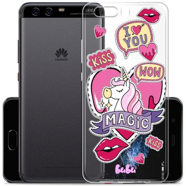 Case Huawei P10 Plus Unicorn Magic Einhorn Kiss Love Wow - bubu