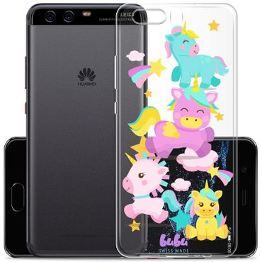 Cover Huawei P10 Plus Regenbogen Einhorn Unicorn Party - bubu