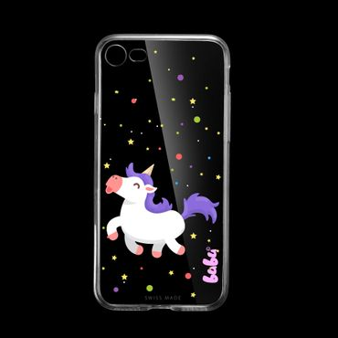 Apple iPhone 8 Gummi Cover happy Einhorn - bubu©