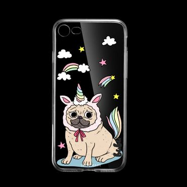 Dogicorn Hülle iPhone 8 transparent Gummi - bubu©