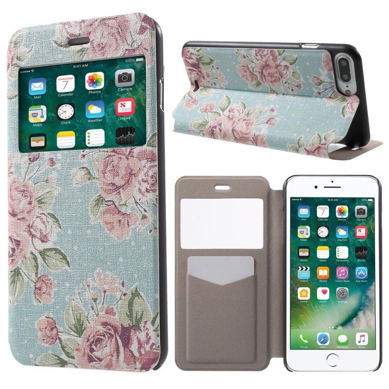 check out 6395e cbbca iPhone 8 Plus Flip Cover Hülle Wallet S-View Fenster Blau | WasDazu.ch