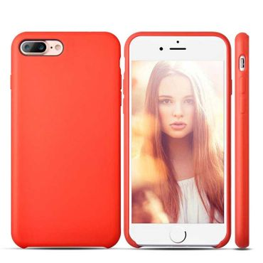 Gummihülle Apple iPhone 8 Plus Case Anti Fingerabdruck Rot