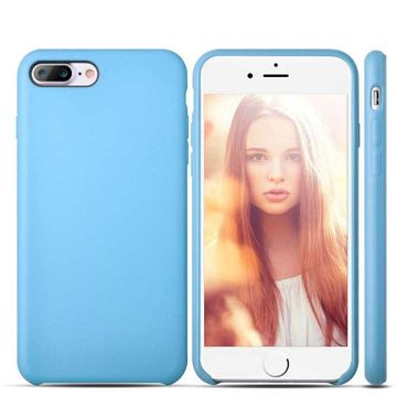 iPhone 8 Plus Case Gummi Hülle Case Anti Fingerabdruck Hellblau