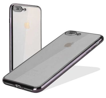 Apple iPhone 8 Plus Cover Case Anthrazit grau glänzend