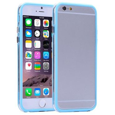 Apple iPhone 8 Plus Bumper Cover leichte Gummi griffig Hellblau