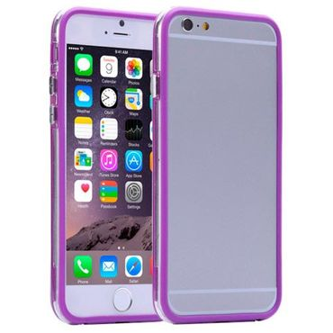 Apple iPhone 8 Plus Bumper Hülle griffige Silikon leicht Violette