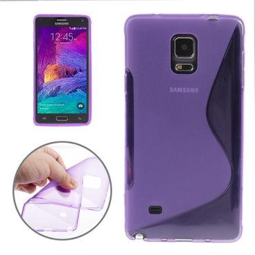 Samsung Galaxy Note 4 Handyhülle mit S-Look Lila