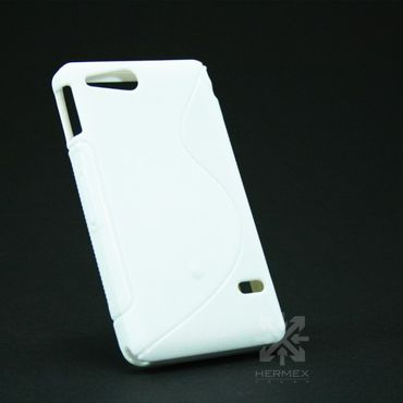 Sony Xperia Go S-Line TPU Silikon Case Coque Weiss