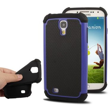 Samsung Galaxy S4 Shock Proof hart Case Blau