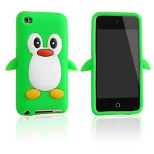 iPod Touch 4 Pinguin Design Silikon Case Hülle Cover Grün