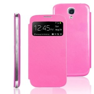 Samsung Galaxy S4 mini Flip Cover Pink Smart-View
