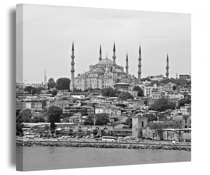 istanbul leinwand schwarz wei t rkei bilder skyline. Black Bedroom Furniture Sets. Home Design Ideas