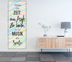Banner Wandtattoo mit Digitaldruck