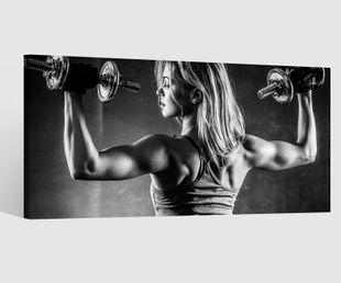 Leinwandbilder athletisch Hanteln Fitness Körper Muskeln Training Sport Po Leinwand Bild Leinwandbild Wandbild Holz 9BD409
