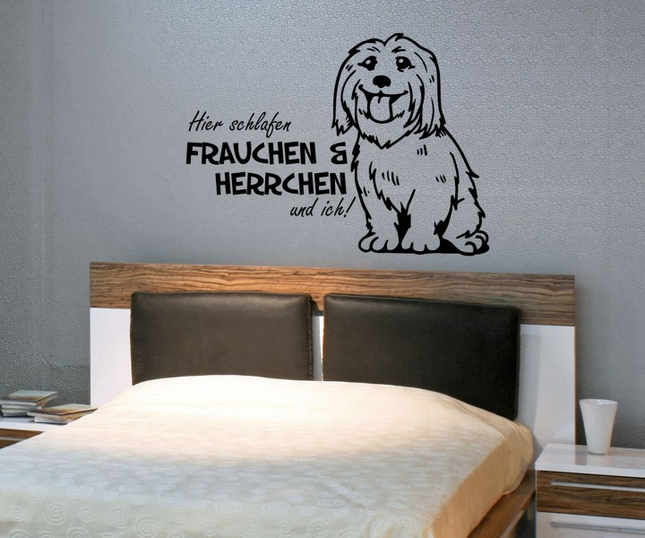 Wandtattoo Yorkshire Bull Russell Terrier Spruch Hier ...