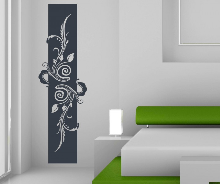 wandtattoo banner blumen ranke bl tter floral deko. Black Bedroom Furniture Sets. Home Design Ideas