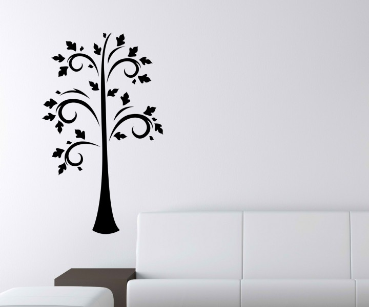 wandtattoo baum retro b ume aufkleber ste bl tter bl ten kinderzimmer deko wald wandsticker. Black Bedroom Furniture Sets. Home Design Ideas