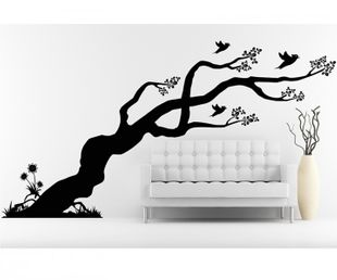wandtattoo xxl baum b ume aufkleber ste bl tter bl ten kinderzimmer deko wald wandsticker. Black Bedroom Furniture Sets. Home Design Ideas