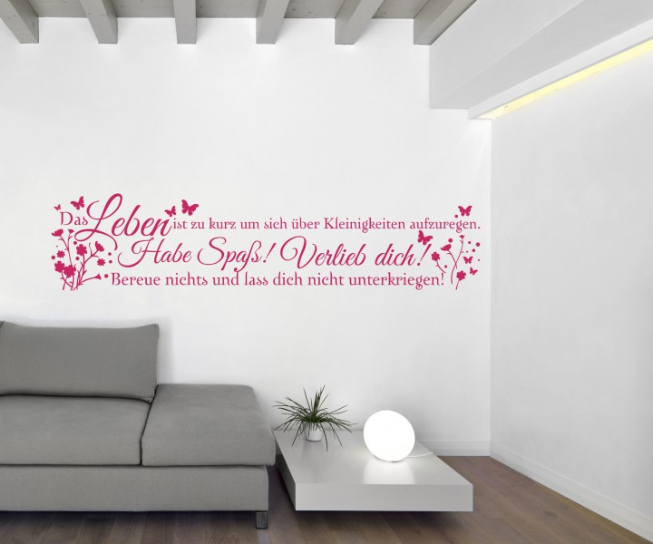 wandtattoo spruch habe spa verliebe dich wandsticker. Black Bedroom Furniture Sets. Home Design Ideas