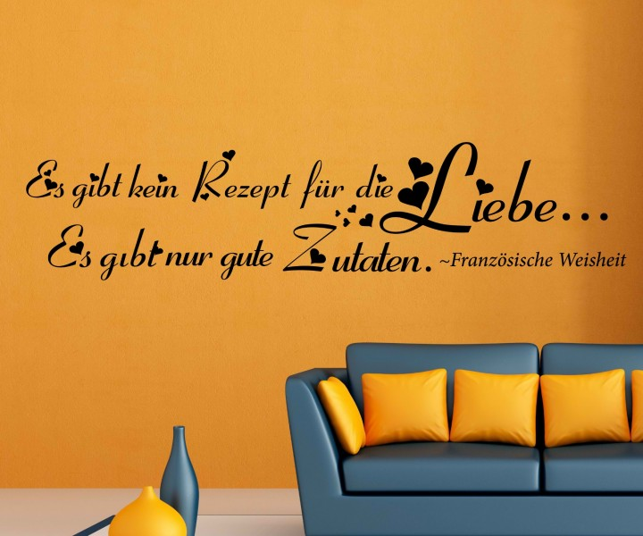 wandtattoo spruch liebe wandsticker zitate zitat. Black Bedroom Furniture Sets. Home Design Ideas