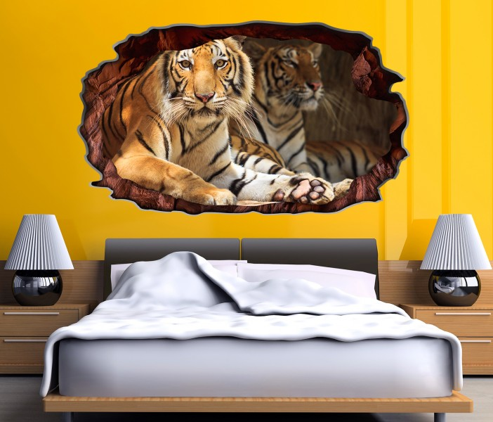 3d wandtattoo tiger augen tier kopf raubkatze bild selbstklebend wandbild wandsticker wohnzimmer. Black Bedroom Furniture Sets. Home Design Ideas