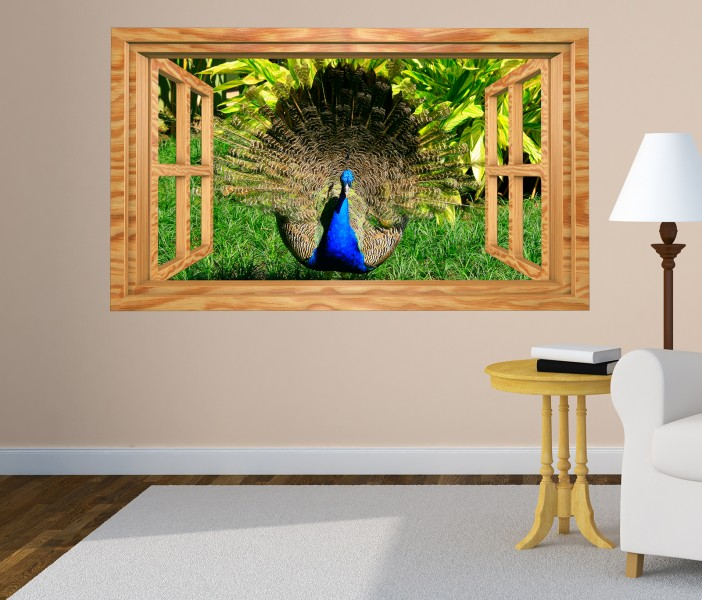 3d wandtattoo pfau tanz m nnchen indien vogel bild selbstklebend wandbild sticker wohnzimmer. Black Bedroom Furniture Sets. Home Design Ideas