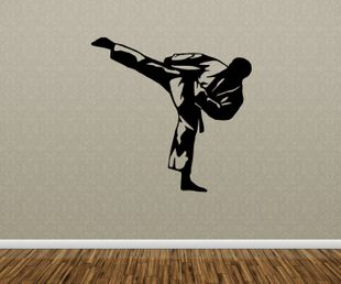Wandtattoo Karate Kampfsport Sport Tattoo Sticker Aufkleber Wand Portrait 5G035